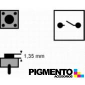 Botão 6x6x(1,35)mm, horizontal, 2 pinos