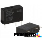 Relé mini electromagnético 24VDC 5A SPST-NO