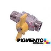 TORNEIRA P/ GAS 1/2 M /M 180º UNIVERSAL