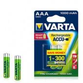 Pilas recargables Varta HR03 AAA 1000mAh 1.2V