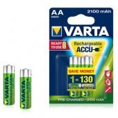 Pilas recargables Varta 2100mAh AA HR6 1.2V