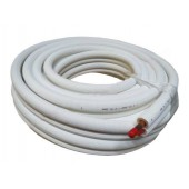 TUBO COBRE ISOLADO 1/4+1/2 (ROLO 20 mt. - ESPESS. 0,80mm)