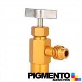 TORNEIRA 1/4 F X 1/4 M P/ GARRAFAS DE GAS DE 1 KG