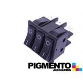 INTERRUPTOR TRIPLO 35X30 TECLA NEGRA (O-I) (6 T)