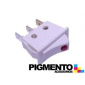 INTERRUPTOR 11X30 3 T. BLANCO C/ LED ROJO