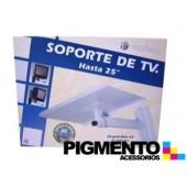 """SOPORTE P/ TV """"25"""" PLATA"""