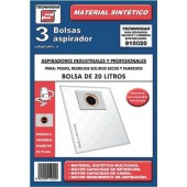 SACOS ASPIRADOR INDUSTRIAL 20 LT. UNIVERSAL (MICROFIBRA)