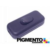 INTERRUPTOR DE PASSAGEM NEGRO (PERA) (CYLLUX 8301)