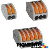 CONECTOR RAPIDO WAGO 222-413 (3 FIOS)