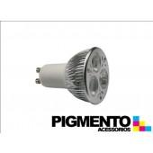 LÁMPARA DE LED 3W.(=20W.) 230V. GU10 (6400K / 195 Lm.)