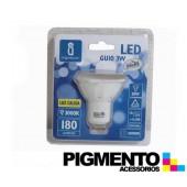 LÁMPARA DE LED 3W.(=20W.) 230V. GU10 (3000K / 180 Lm.)